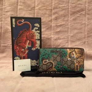 💯AUTHENTIC BRAND NEW GUCCI MONOGRAM BENGAL WALLET